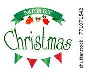 merry christmas background | Shutterstock .eps vector #771071542