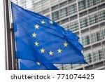 european commission eu flag in... | Shutterstock . vector #771074425