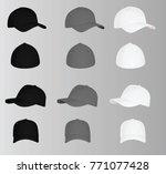 baseball cap. vector... | Shutterstock .eps vector #771077428