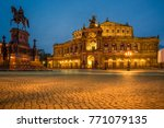 semper opera at night with... | Shutterstock . vector #771079135
