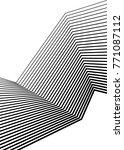 white black color. linear... | Shutterstock .eps vector #771087112