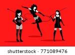 minimalist bdsm shibari bondage ... | Shutterstock .eps vector #771089476