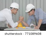 two of business man doing arm... | Shutterstock . vector #771089608