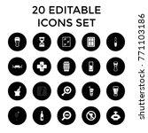 glass icons. set of 20 editable ...   Shutterstock .eps vector #771103186