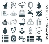 set of 25 drop filled and... | Shutterstock .eps vector #771104422