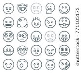 set of 25 smiley outline icons... | Shutterstock .eps vector #771105172