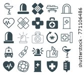set of 25 emergency filled and... | Shutterstock .eps vector #771106486
