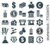 set of 25 investment filled... | Shutterstock .eps vector #771106576