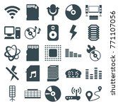 set of 25 digital filled icons... | Shutterstock .eps vector #771107056