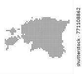 pixel map of estonia. vector...