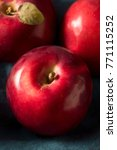 Small photo of Red Organic Macintosh Apples Ready to Eat