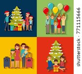 set of family differents... | Shutterstock .eps vector #771115666