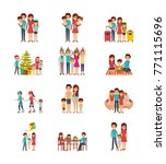 set of family differents... | Shutterstock .eps vector #771115696