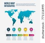 world map infographic steps... | Shutterstock .eps vector #771116995