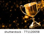 trophy award championship with... | Shutterstock . vector #771120058