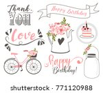 birtday party set | Shutterstock .eps vector #771120988