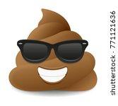 pile of poo sunglasses summer... | Shutterstock .eps vector #771121636