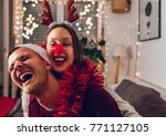 merry christmas and happy new... | Shutterstock . vector #771127105