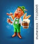 man with beer | Shutterstock .eps vector #771130045