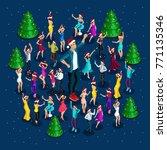 isometrics people celebrate...   Shutterstock .eps vector #771135346