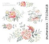 set of the floral arrangements. ...   Shutterstock .eps vector #771136618