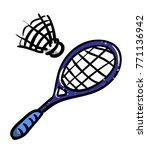 cartoon image of badminton icon....