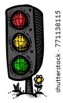 cartoon image of traffic light. ...
