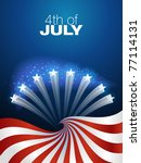 4th of july independence day... | Shutterstock .eps vector #77114131