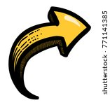 cartoon image of arrow icon....