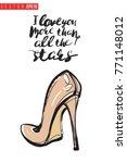 vector nude heel with... | Shutterstock .eps vector #771148012