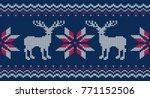 knitted seamless pattern for... | Shutterstock .eps vector #771152506
