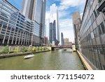 northern riverwalk on north... | Shutterstock . vector #771154072
