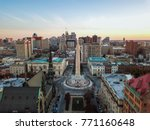 aerial of mount vernon place in ... | Shutterstock . vector #771160648