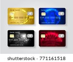 realistic credit cards set. | Shutterstock .eps vector #771161518