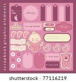 Baby Girl Scrapbook Elements....