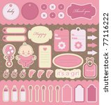 Baby Girl Scrapbook Elements....