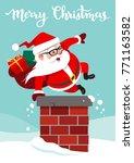 vector cartoon illustration of... | Shutterstock .eps vector #771163582