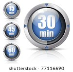 set of creative timers. vector...