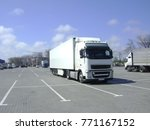 truck on the road  in the... | Shutterstock . vector #771167152