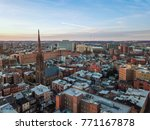 aerial of downtown baltimore ... | Shutterstock . vector #771167878