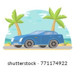 sports car coupe against the... | Shutterstock .eps vector #771174922
