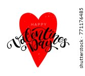 happy valentines greeting card... | Shutterstock .eps vector #771176485