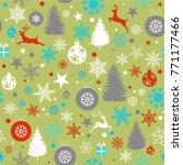 seamless christmas background... | Shutterstock .eps vector #771177466