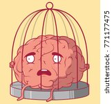 brain in a cage vector... | Shutterstock .eps vector #771177475