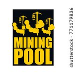 mining pool logo. extraction of ... | Shutterstock .eps vector #771179836