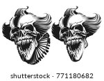 evil clown skull | Shutterstock .eps vector #771180682