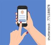 vector smartphone in the hand... | Shutterstock .eps vector #771188878