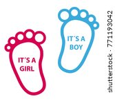 Baby Footprint Its A Girl  Its...