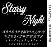 vector set of handwritten abc... | Shutterstock .eps vector #771193666