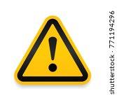yellow warning dangerous... | Shutterstock .eps vector #771194296